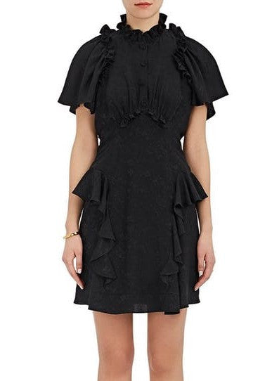 Maison Mayle guava dress black floral