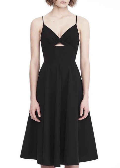 T by Alexander Wang dress with front key hole black