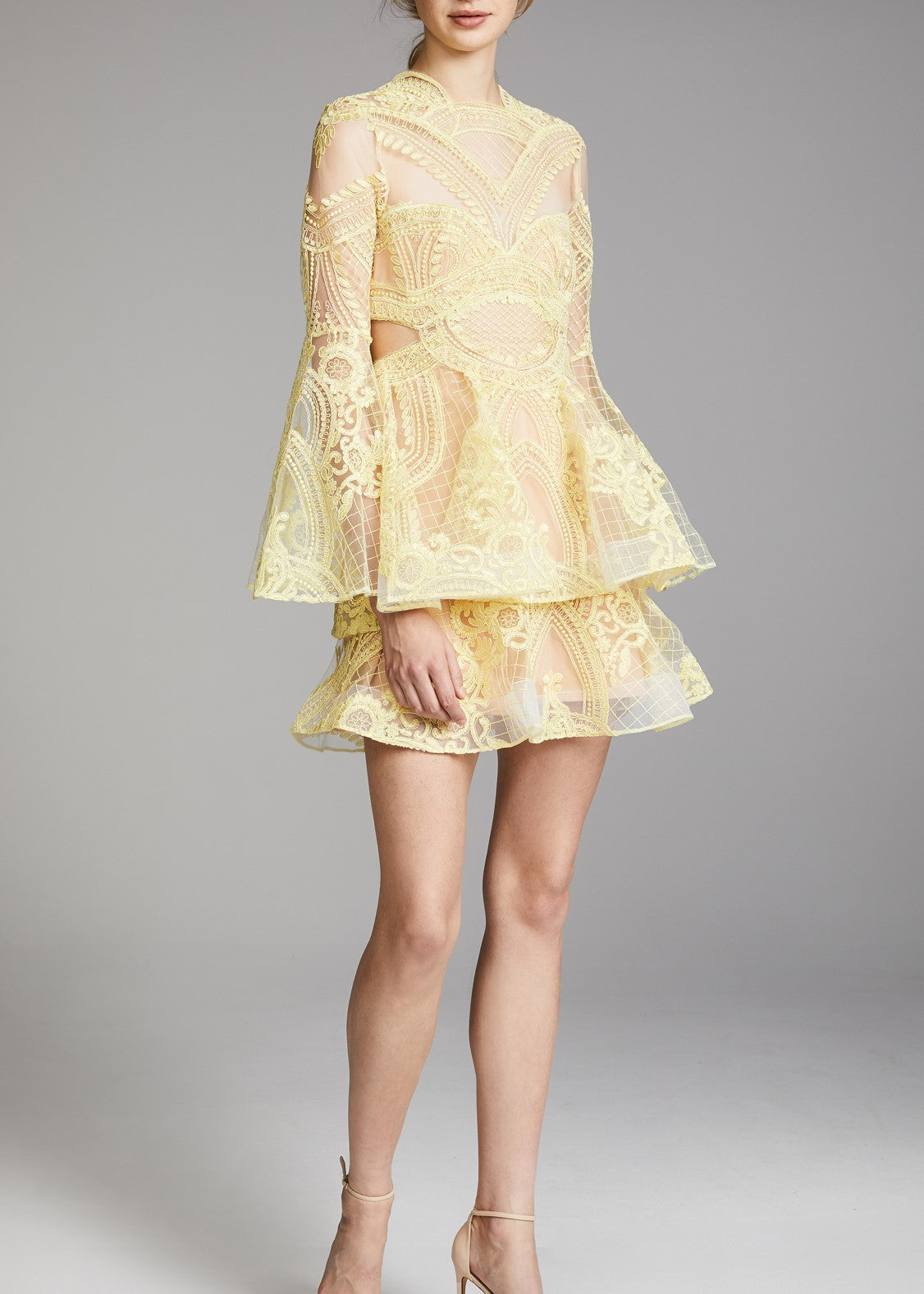 Thurley Chameleon dress lemon