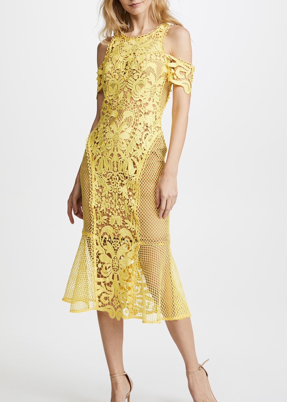 Thurley Enchanted Garden Midi Dress zest