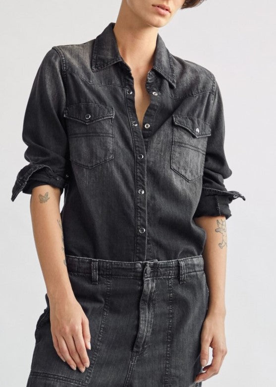 Nili Lotan Travis shirt in leonard wash