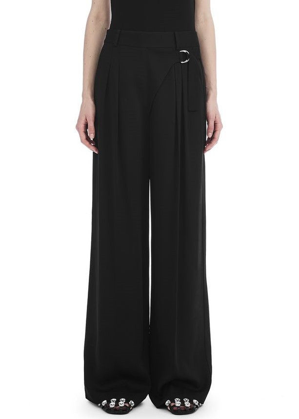 T by Alexander Wang wide leg trouser black