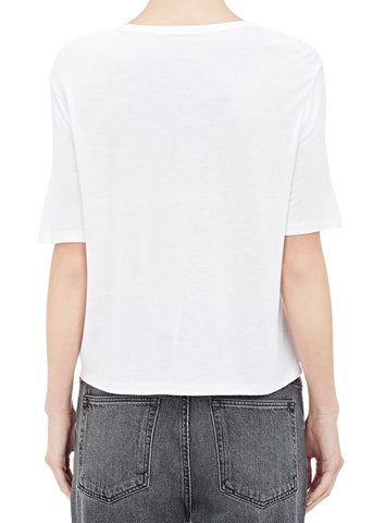 T by Alexander Wang classic pocket tee white