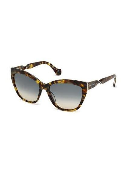 Balenciaga tortoise twisted cateye sunglasses