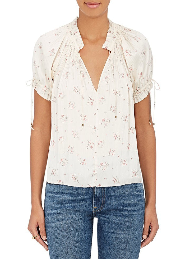 Ulla Johnson mallory floral print top white