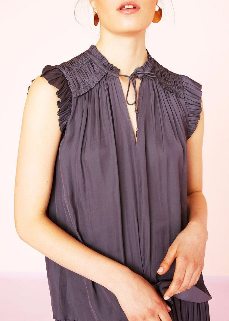 Ulla Johnson ren satin top midnight
