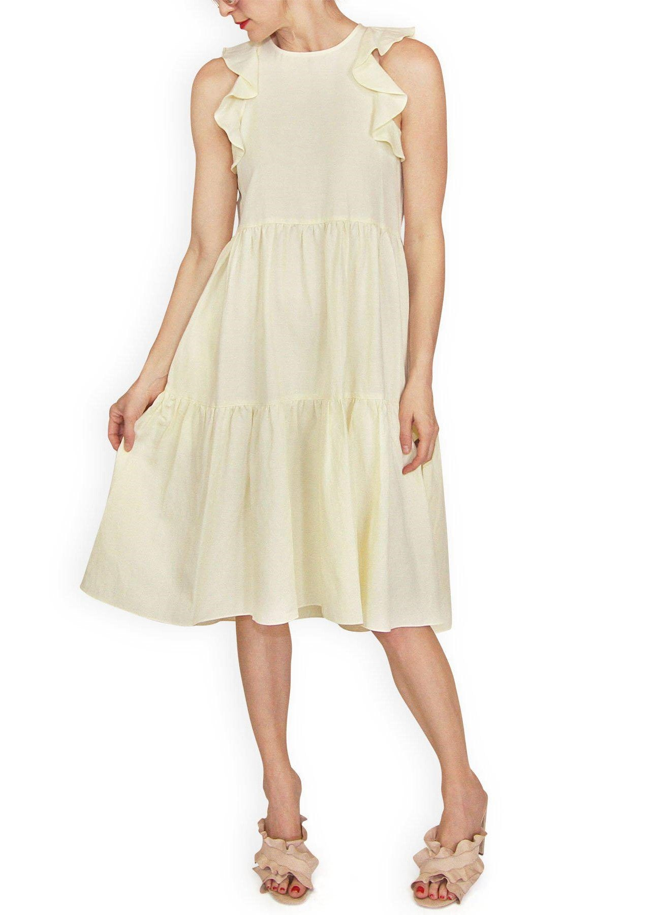 Ulla Johnson Sienna dress in lemon