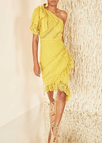 Ulla Johnson gwyneth dress in chartreuse