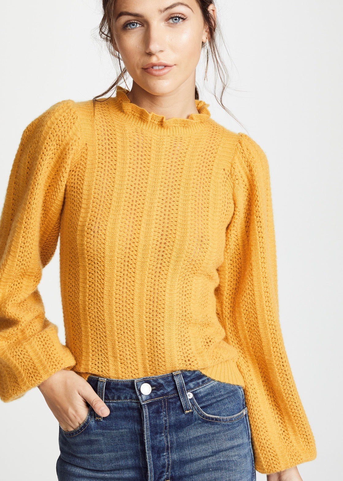 Ulla Johnson Dionne pullover in mustard