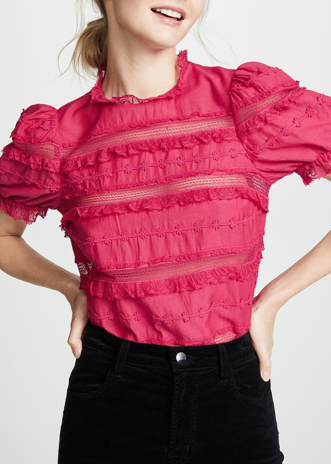 Ulla Johnson Desi top in fuschia