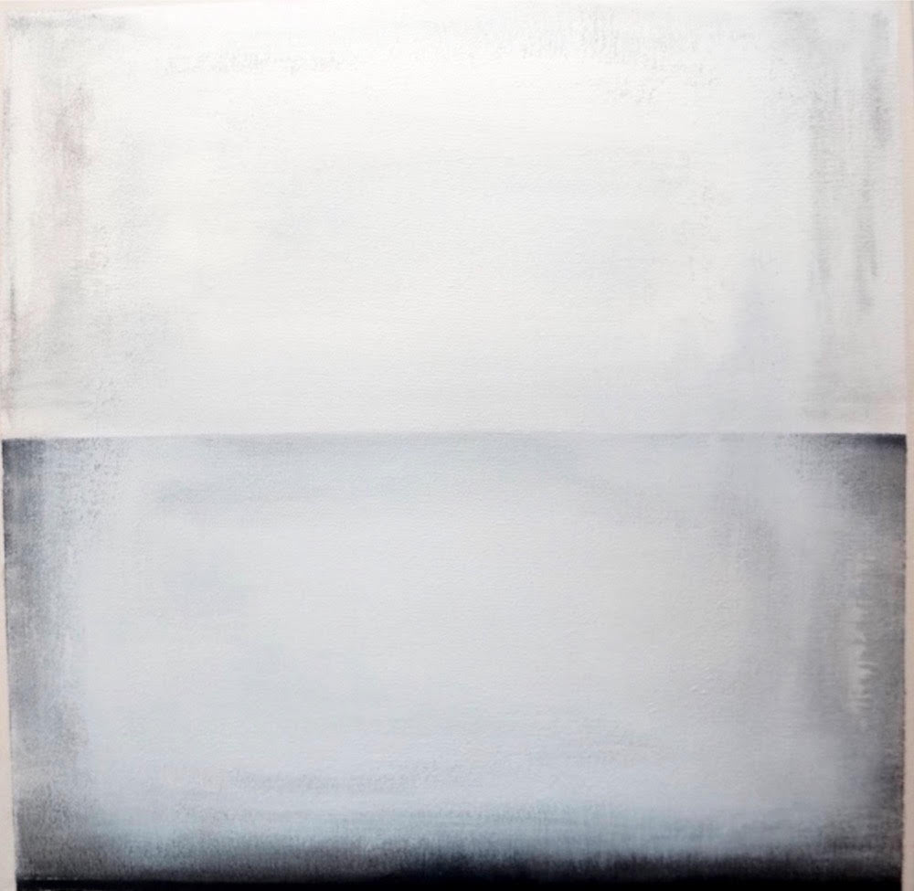 Michelle Tholen - Charcoal white, Acrylic on canvas