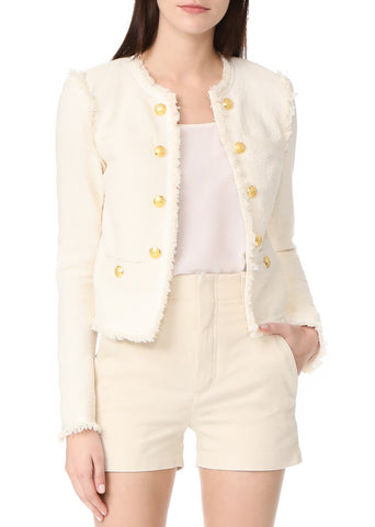 Veronica Beard betsy lace back tweed jacket white