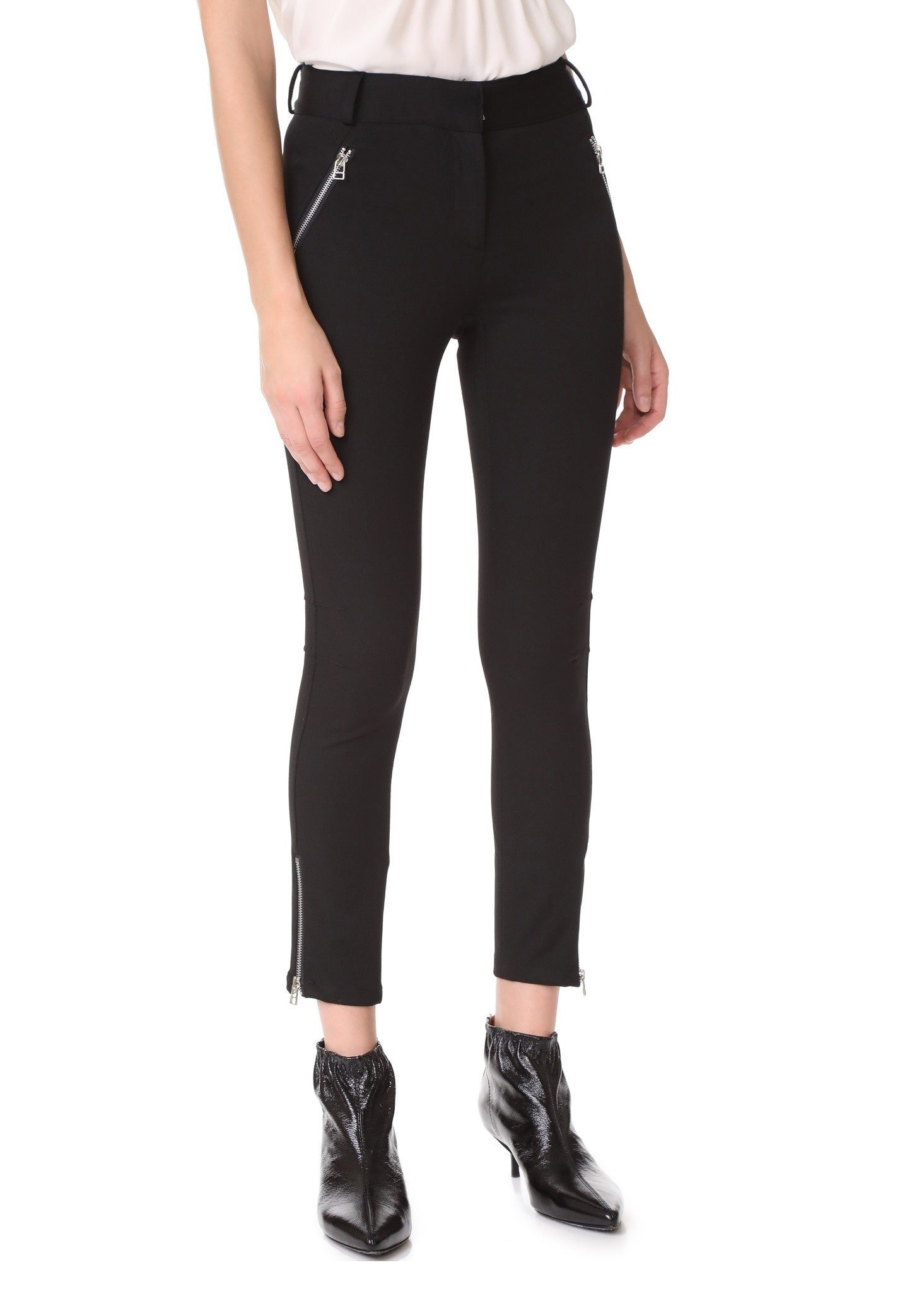 Veronica Beard ash seamed skinny pant black