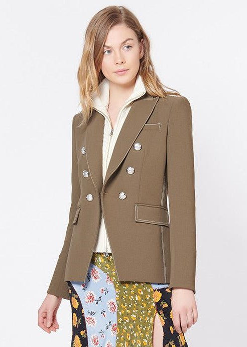 Veronica Beard Miller dickey jacket in army green
