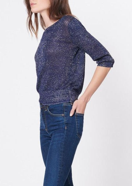 Veronica Beard Uma sweater in navy/silver