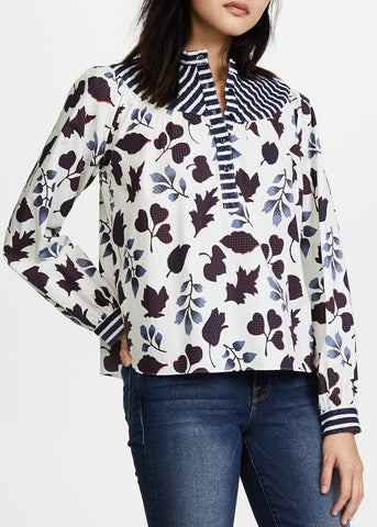 Warm ditte blouse white multi