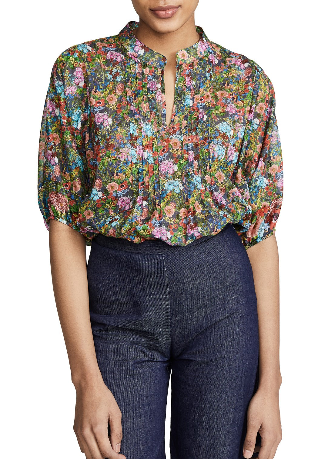 Warm Love Street Blouse in small floral