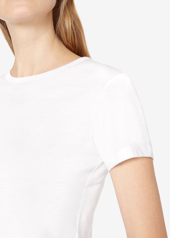 Sunspel crewneck tee white