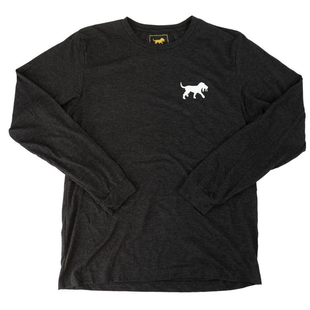 Refined Goods LS Tee - Heather Gunsmoke