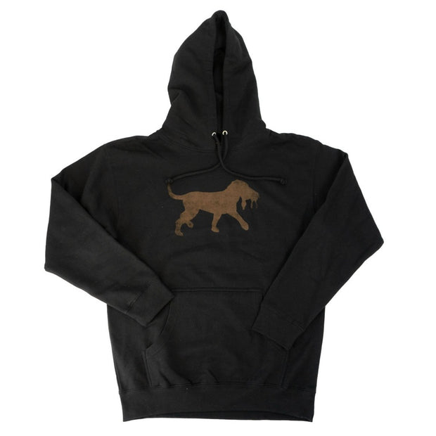 The Scout Logo Tobacco Hoodie - Black -