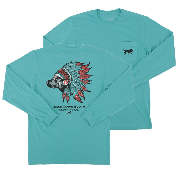 Chief 2.0 LS Pocket Tee - Blue wing