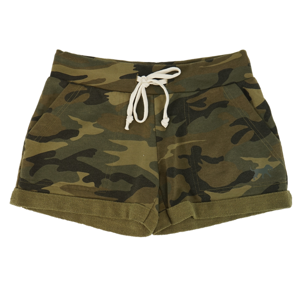 Women's Active Shorts - Woodland Camo