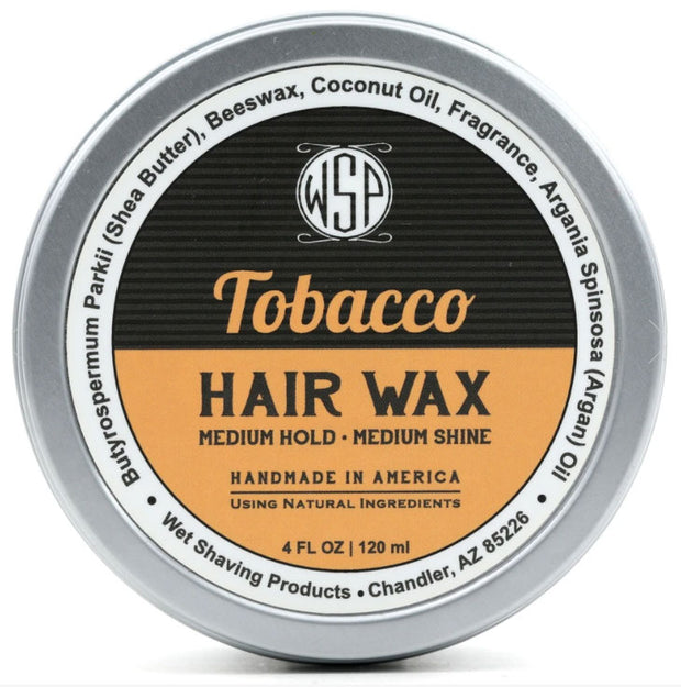 HAIR WAX (BALM) - 4 OZ PETROLEUM FREE POMADE NATURAL & VEGETARIAN (TOBACCO)