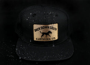 Black /Gold Logo Trucker Hat