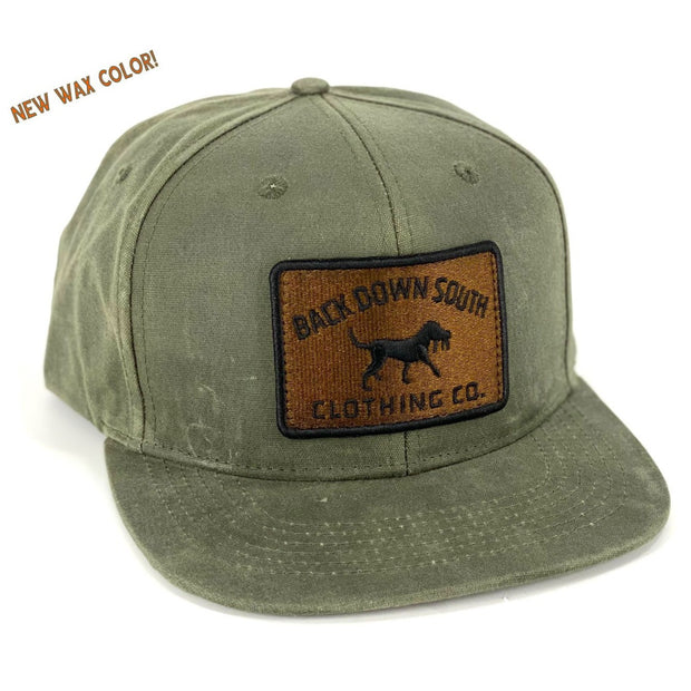 The Backwater -Waxed Cotton Hat - Moss - BACKORDER - SHIP DATE 11/15 -
