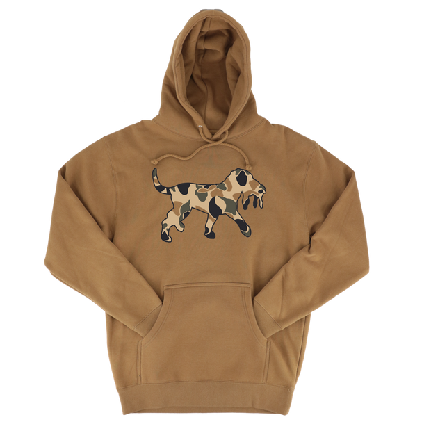 The Scout- Duck Camo Logo Hoodie - Tobacco