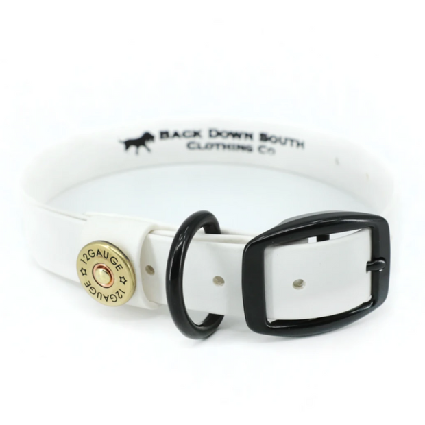 The chief dog collar - White