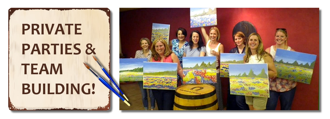 Book a Private Painting Party / Team Building in Houston