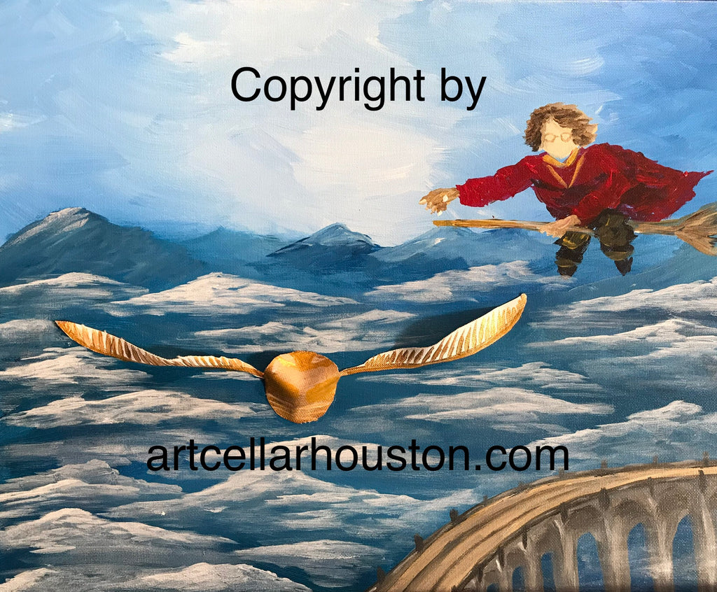 "Sat, Aug 18, 1-4pm ""Chasing the Snitch"" Private Houston Kids Painting Party"