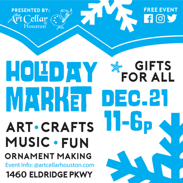 Vendor Fee for 2019 Holiday Art Market (Energy Corridor)