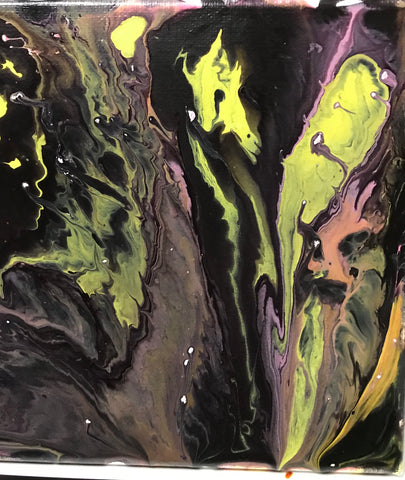 "Fri, Apr 6, 8-10pm ""Neon Nights with DJMJ"" an Acrylic Pour Experience Public Class"