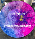 "Sat, Nov 24, 3-5pm ""Alcohol Ink Ornaments"" Public Houston Painting Class"