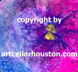 "Sat, Feb 8, 2-4p ""Alcohol Inks: Love Notes"" Public Houston Wine & Paint Class"