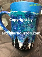 """Alcohol Ink Mugs"" Commissioned Art Work"