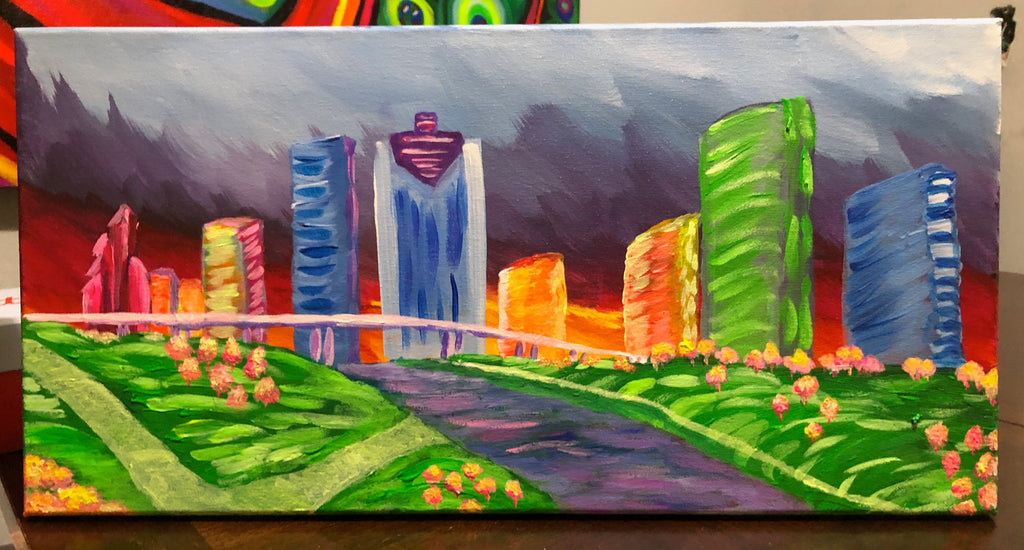"Wed, Nov 13, 5-8pm ""Let's Glow Houston"" Houston Wine & Painting Class"