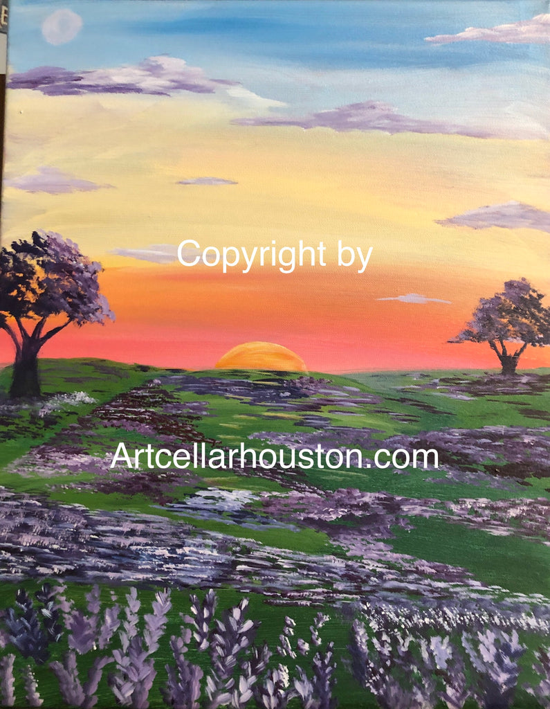 "Sat, Oct 5, 5-8pm ""Lavender Fields Forever"" Public Houston Wine and Painting Fundraiser"