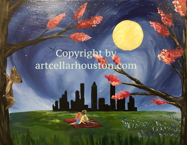"Tue, Feb 11, 530-830pm ""Moonlit Love"" Sevona Park Row Resident Painting Party"