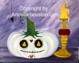 "Wed, Oct 21, 4-6p ""Pumpkin Spice"" Public Houston Family Painting Class"