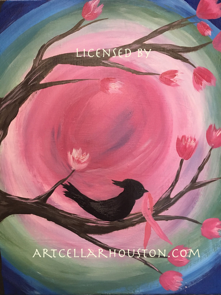 "Sun, Apr 23, 11am-1pm ""My Bird Tree"" PRIVATE PARTY Houston Painting Class"