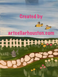 "Sun, Feb 24th, 2-4pm ""A Bumbling Afternoon"" Private Houston Kids Painting Class"