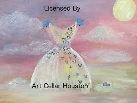 "Wed, May 16, 4-6p ""Dancing on Air"" Kids Paint Acrylics Public Houston Painting Class"