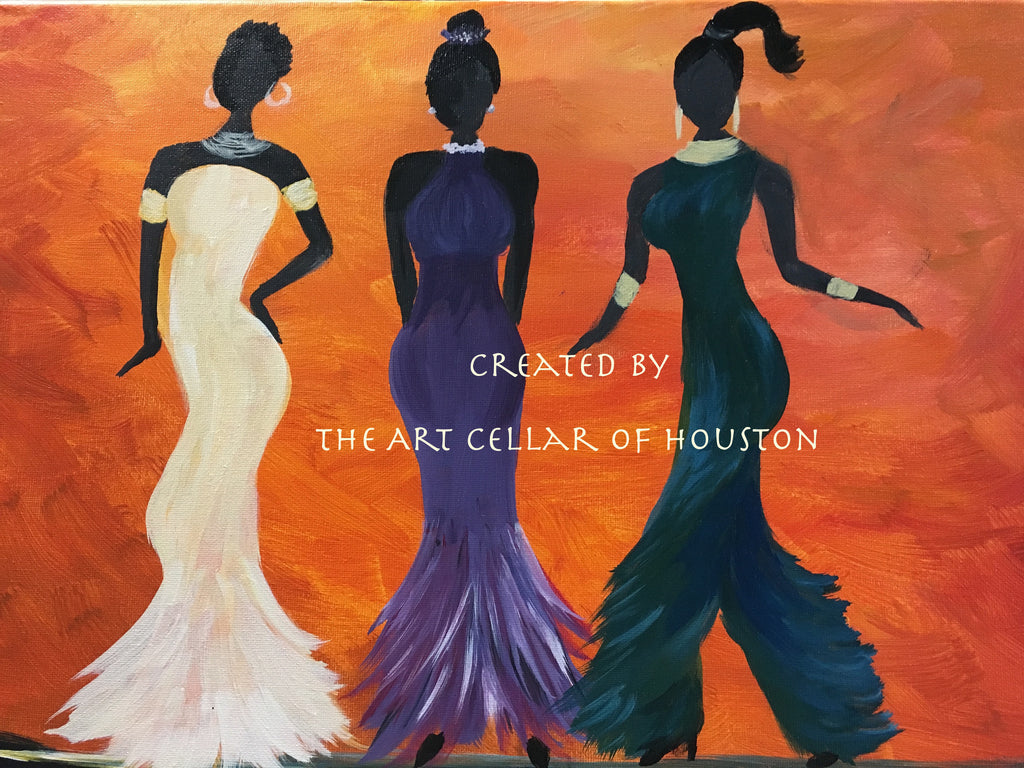 "Fri, Apr 5, 7-10pm ""Girl Power"" Public Houston Wine and Painting Class"