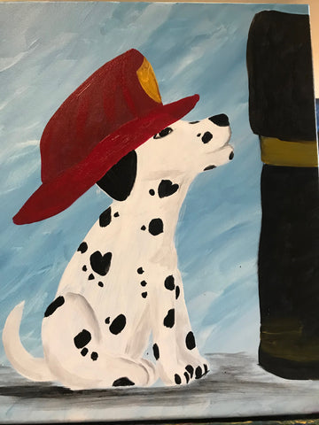 "Sat, Feb 3, 5-8pm ""Puppy Love"" Private Houston Painting Party"