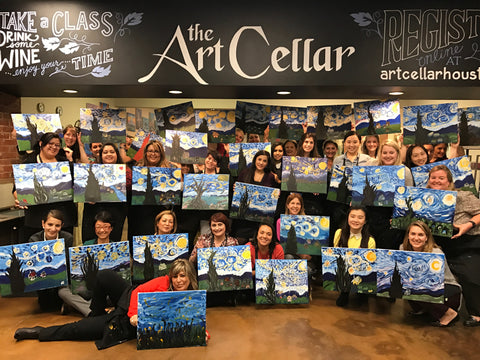 "Fri, Oct 12, 8-11pm ""Elephant Love"" PRIVATE Houston Wine & Painting Party"