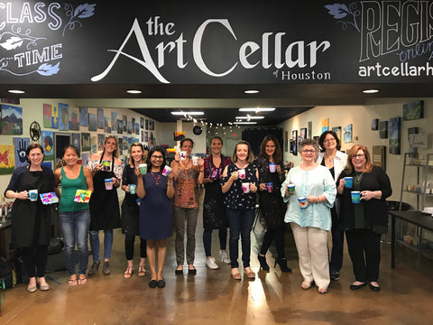 "Sat, Oct 20, 7-10p ""Inks & Drinks"" Public Houston Wine & Painting Class"
