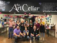 "Thu, Apr 25, 5-8pm ""Painting on Wine Glass"" Private Houston Painting Class"